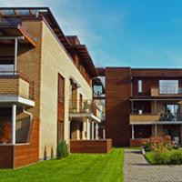 Fortettingsprosjekt på Heimdal i Trondheim; 13 leiligheter med passivhus-standard.